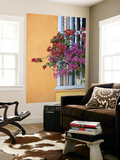 Bougainvillea Adorning Colonial Window Plakater af Margie Politzer
