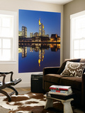 Skyline Reflected in Main River at Dusk Prints by Richard l'Anson