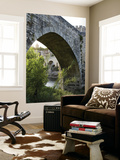 Medieval Fortified Bridge over Fluvia River Prints by Dennis Johnson