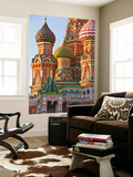 Walls and Domes of St Basils Cathedral (Pokrovsky Cathedral) in Red Square Prints by Tim Makins