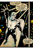 Marvel Comics Retro: Silver Surfer Comic Panel (aged) Posters