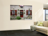Fisherman's House Decorated with Flowers in Fishing Village of Piriac Sur Mer Prints by Barbara Van Zanten