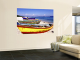 Fishing Boats on Beach Print by Greg Johnston