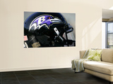 Ravens Raiders Football: Oakland, CA - A Baltimore Ravens Helmet Posters by Marcio Jose Sanchez
