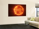 A Massive Red Dwarf Consuming Planets Within it's Range Print by  Stocktrek Images