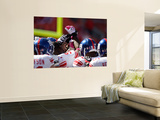 Giants Chiefs Football: Kansas City, MO - New York Giants huddle Poster by Jeff Roberson