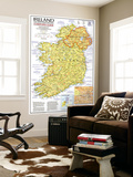 1981 Ireland and Northern Ireland Visitors Guide Map Art by  National Geographic Maps