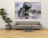 Astronaut Walking in Space Prints by David Bases