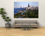 Aerial View of Skyline, Chicago, Illinois, USA Poster