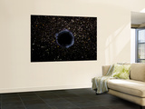 Artist's View of a Black Hole in a Globular Cluster - Poster