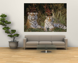 A Portrait of Two Captive Siberian Tigers Posters by Dr. Maurice G. Hornocker