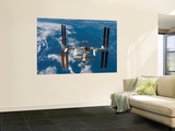 The International Space Station Moves Away from the Space Shuttle Atlantis, June 19, 2007 Posters