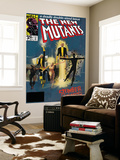 The New Mutants No.4 Cover: Sunspot, Cannonball, Magik, Magma, Wolfsbane and New Mutants Prints by Bill Sienkiewicz