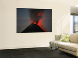 Nighttime Lava Eruption of Fuego Volcano, Antigua, Guatemala Prints by  Stocktrek Images