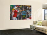 Titans Patriots Football: Foxborough, MA - Tom Brady Print by Stephan Savoia