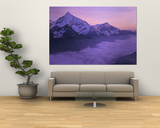 Clouds over Mountains, Swiss Alps, Switzerland Posters