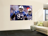 49ers Colts Football: Indianapolis, IN - Dwight Freeney and Robert Mathis Posters by Michael Conroy