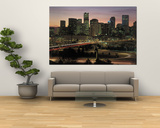 Skyline at Sunrise, Denver, CO Print by Tom Dietrich
