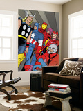 X-Statix 21 Group: Ant-Man, Captain America, Thor, Iron Man, Scarlet Witch, Hawkeye and Avengers Prints by Michael Allred