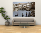 Bridge Over a Canal, Rialto Bridge, Venice, Veneto, Italy Posters