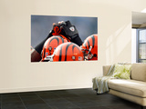 Bengals Chargers Football : San Diego, CA - Cincinnati Bengals Players Huddle Posters by Lenny Ignelzi