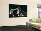 Bridge Lit Up at Night, Tower Bridge, London, England Posters