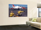 A Shooter Signlas the Launch of a T-45A Goshawk Trainer Aircraft Prints by  Stocktrek Images