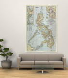 Philippines Map 1945 Poster