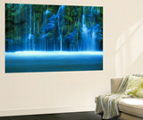 Mossbrae Falls, Vandfald, Sacramento-floden, Shasta Cascade, Dunsmuir, Californien, USA Plakater