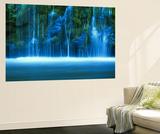 Vodopád Mossbrae, řeka Sacramento River, Shasta Cascade, Dunsmuir, Kalifornie, USA Obrazy