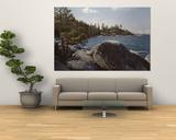 Rocks on the Coast, Lake Tahoe, California, USA Print