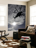 Low Angle View of a Ch-53E Super Stallion Helicopter in Flight Print