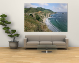 A View of Bixby Bridge on Hwy 1, Along Californias Big Sur Coast Prints