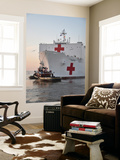 The Hospital Ship Usns Comfort Departs for Deployment Poster by  Stocktrek Images