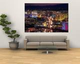 Aerial of Las Vegas Strip at Dusk, NV Plakater af Stewart Cohen