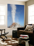 White Dome Geyser Erupting, Upper Geyser Basin Geothermal Area, Yellowstone National Park Posters by  Stocktrek Images