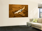 A North American P-51D Mustang in Flight Prints by  Stocktrek Images