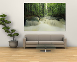 Waterfall Time Exposure, Bayerischer Wald National Park, Germany Kunstdruck von Norbert Rosing