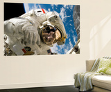 An Astronaut Mission Specialist Participates in the Mission's Extravehicular Activity Print
