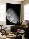 View of the Moon's North Pole Poster
