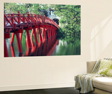 Bridge, Hoan Kiem Lake, Hanoi, Vietnam Prints