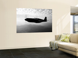 A P-51A Mustang in Flight Prints by  Stocktrek Images