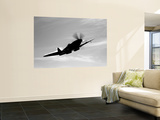 A Supermarine Spitfire MK-18 in Flight Art by  Stocktrek Images