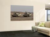 M1 Abrams Tank at Camp Warhorse Plakat