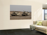 M1 Abrams Tank at Camp Warhorse Print