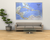West Indies And Central America Map 1981 Prints