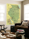 1931 Illinois Map Posters