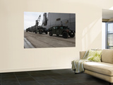 Humvees Depart Uss Harpers Ferry in Support of Operation Tomodachi Print by  Stocktrek Images