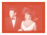 Elizabeth Taylor with Eddie Fisher In Colour Photographic Print by  British Pathe