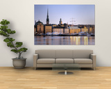 Buildings on the Waterfront, Old Town, Stockholm, Sweden Print